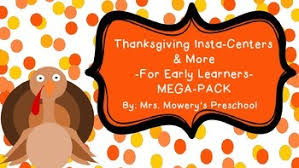 math and reading centers for preschool thanksgiving theme by mrs