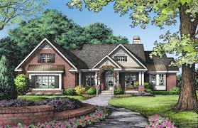 crafty inspiration ideas one story brick ranch house plans 9