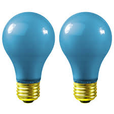 40 watt blue a19 party light bulb