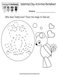 kindergarten valentine u0027s day activities worksheet printable cute