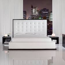 leather bed dhp manhattan premium faux white leather bed