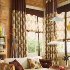 country style curtains for living room christmas lights decoration