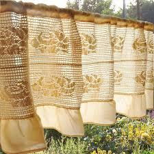 Shabby Chic Curtains Pinterest by Vintage Rose Crochet Ruffle Valance Rose Curtain Shabby Chic
