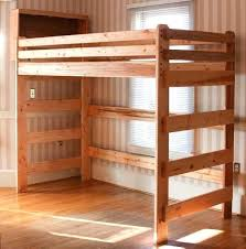 simple loft beds best bunk bed plans ideas on diy loft bed with stairs and slide