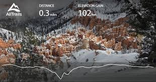 bryce map pdf bryce point trail utah alltrails com
