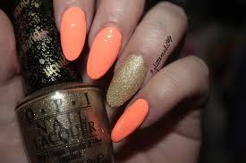 neon peach u0026 gold oval nails nail art gallery