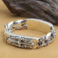 man bracelet cross images Online shop new thailand 925 silver cross bracelet vintage jpg
