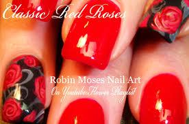 robin moses nail art rosegold nails how to paint roses nail art