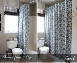 bathroom apartment ideas shower curtain wallpaper entry style