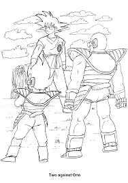 coloring page dragon ball z coloring pages 40