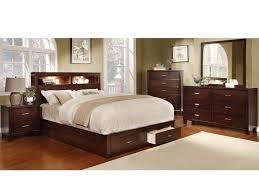 contemporary 4pc bedroom set queen bed nightstand dresser mirror