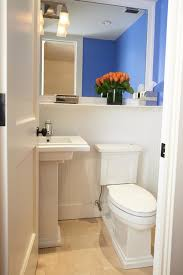 Powder Room With Pedestal Sink Touchless Toilet Powder Room Eclectic With Kohler Pedestal Sink