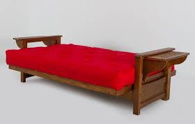 oak futon sofa bed jabiru solid timber futon sofa bed lounge with foldable shelf s