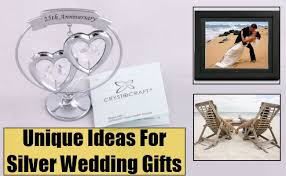 silver anniversary gifts unique ideas for silver wedding gifts different silver wedding