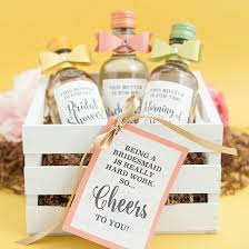 bridesmaid favors the most adorable diy mini wine bottle bridesmaid gift