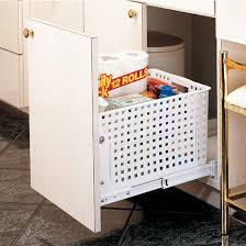 Bathroom Cabinet With Built In Laundry Hamper Rev A Shelf Pull Out Laundry Hamper And Utility Basket For Kitchen