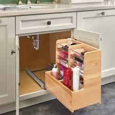 sink kitchen cabinet organizer for bathroom vanity l shape reversible sink pullout