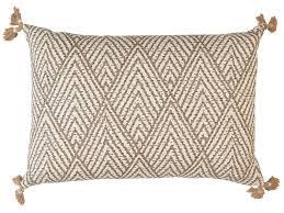 Designer Throw Pillows For Sofa by Tan White Corner Tassel Chevron Pillow Decorative Throw Pillow