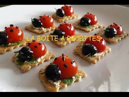recette canapé apéritif facile coccinelles apéritives aperitif dinatoire la boite a recettes