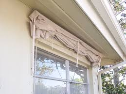 Window Awnings Fabric Retractable Window Awning Made Of Pvc Frame U0026amp Drop Cloth