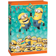 minion wrapping paper jumbo despicable me minions gift bag walmart