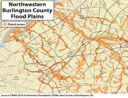 photos flood plain maps for some parts of burlington county