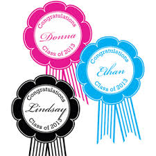 graduation award ribbon personalized labels 10 pieces