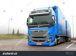 volvo big truck salo finland november 3 blue volvo stock photo 162885356