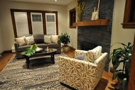 Small Cream Rug Living Room Comfortable Living Room Design With Dark Sofa And