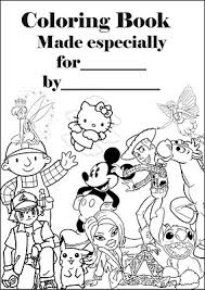 make a colouring book print this a4 colouring book cover sheet