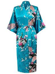 robe de chambre japonaise cityoung kimono japonais en satin robe de chambre peignoir
