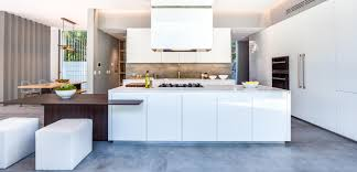 cuisine blanc brillant cuisine sans poignées