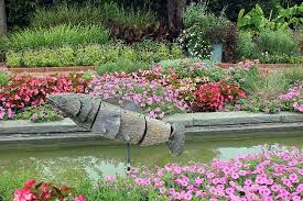 Daniel Stowe Botanical Garden Hours Fish Sculpture In The Canal Garden Picture Of Daniel Stowe