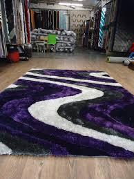 Purple Shag Area Rugs Shaggy Indoor Area Rug In Grey With Purple Rug Addiction