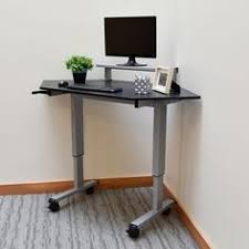 tresanti sit to stand power height adjustable tech desk wildon home adjustable standing desk w motor 47 616 54 go from