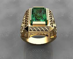 mens gold ring gold signet rings mens rings 3d printable model cgtrader