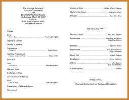 Wedding Party Program Template Wedding Ceremony Program Notary Letter