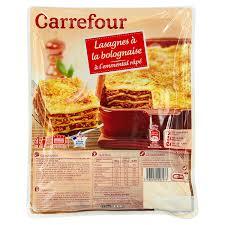 conservation plat cuisiné plat cuisiné lasagnes à la bolognaise carrefour carrefour la
