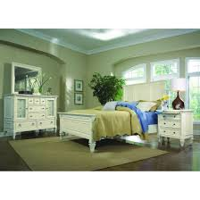 White Furniture Company Bedroom Set Magnussen Ashby 4pc King Size Panel Bedroom Set In Patina White