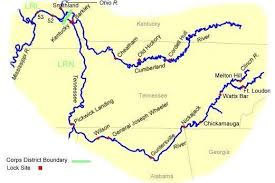 cumberland river map routes towboattour