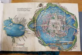 Aztec Empire Map Cortés Map Of Tenochtitlán 2048 1385 Mapporn