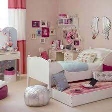 Pink Office Chair Creative Bookcase On The Wall Pink White Bedding Set Pink Bedroom