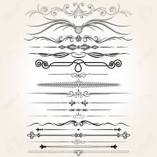 decorative rule lines vector design elements ornaments royalty