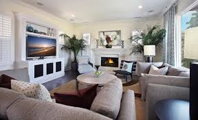 living room wall paintings rustic wood tv stand huge white vases decoration grey wall painting
