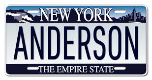 Custom Vanity Plate New York Personalized License Plate Any Text Custom Customized