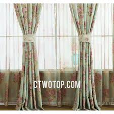 Brown Floral Curtains Teal And Pink Luxury Elegant Retro Vintage French Floral Curtains