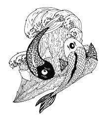 koi ying yang tattoo design for men tattoomagz