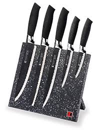magnetic for kitchen knives amazon com stainless steel knife set with magnetic knife block
