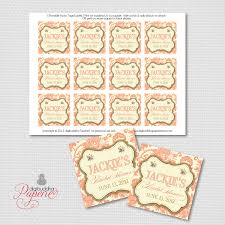 Thank You Tags Wedding Favors Templates by Coral Favor Tags Gold Damask Bridal Shower Thank You Label