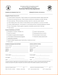 7 business partnership agreement template memo templates